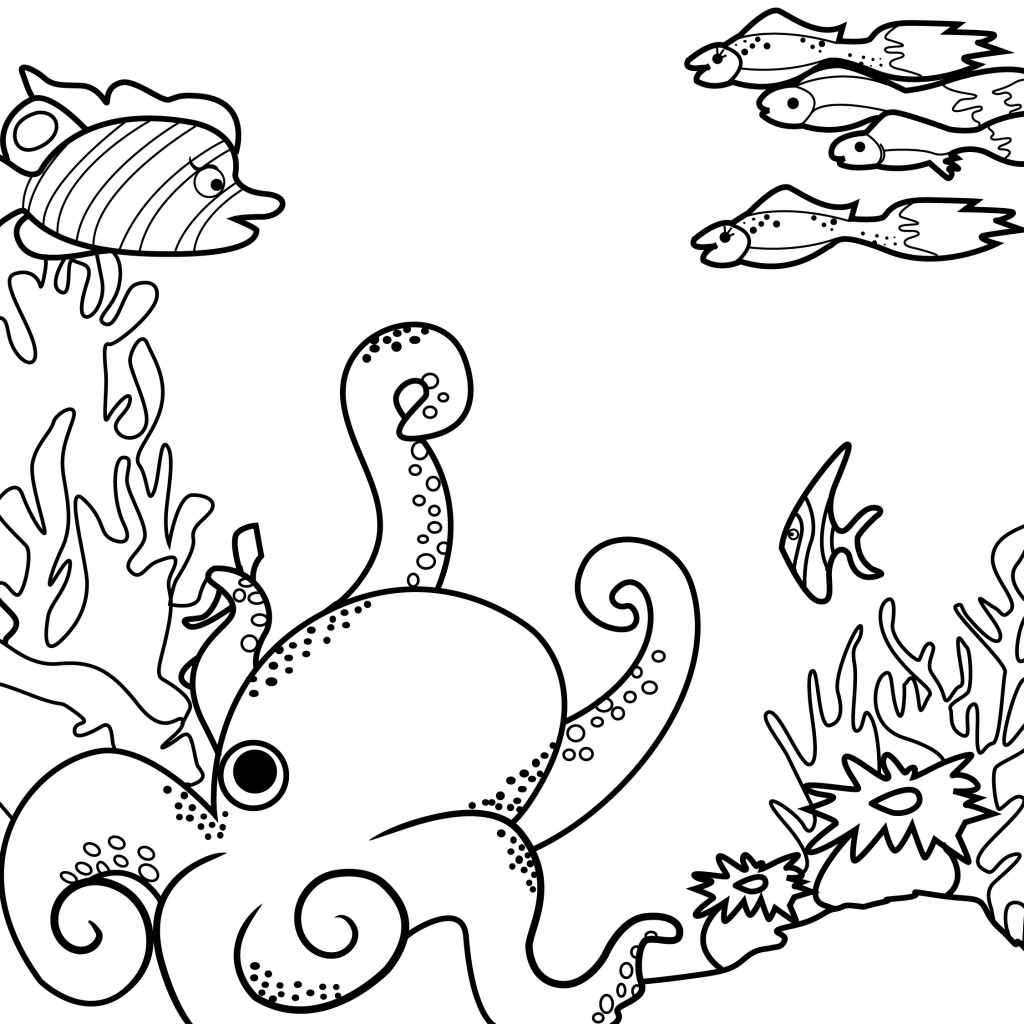 sea monster coloring pages - photo#30